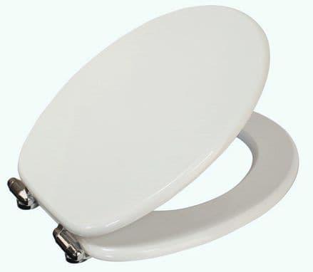 Showerdrape Norfolk White Finish MDF Soft Close Toilet Seat
