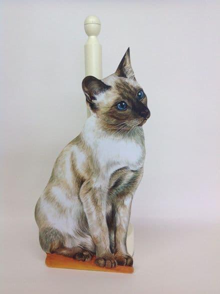 Siamese Cat Spare Kitchen Roll Holder