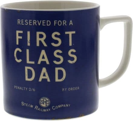 Steam Railway Company First Class Dad Mug