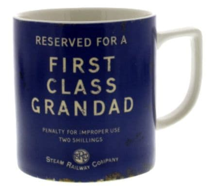 Steam Railway Company First Class Grandad Mug