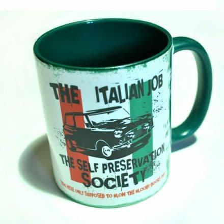 "The Italian Job ""Self Preservation Society"" Ceramic Mug"