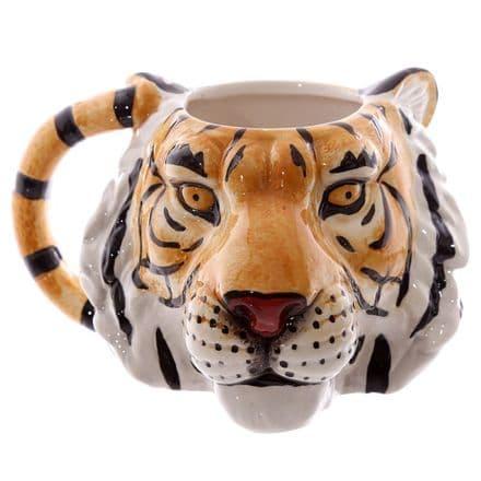 Tiger Shaped Ceramic Mug