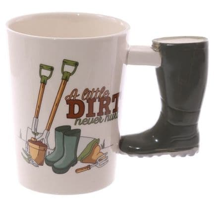 Wellington Boot Shaped Handle Mug
