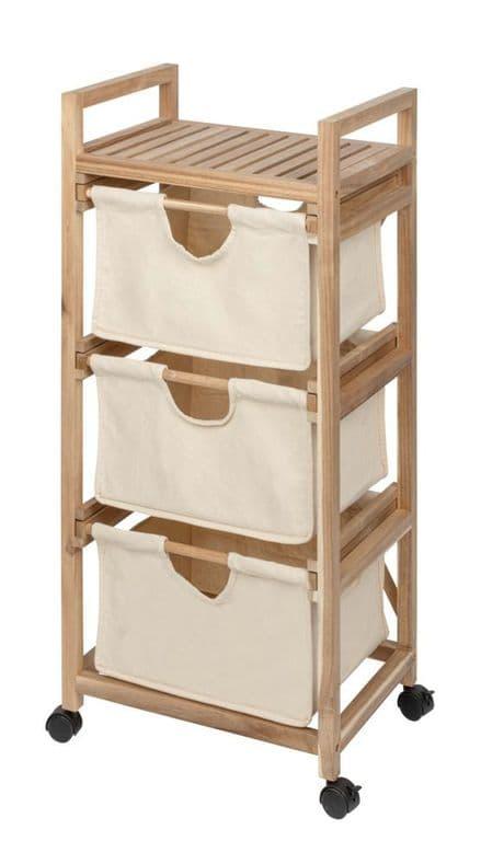 Wenko Acina Laundry Trolley with 3 Drawers
