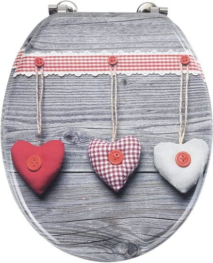 Wenko Bavarian Hearts Novelty Toilet Seat