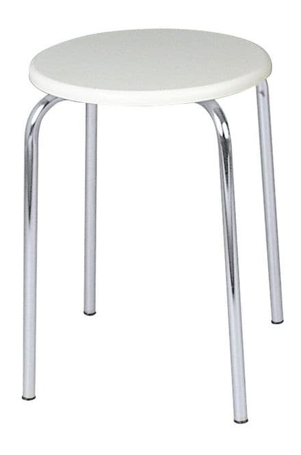Wenko Exclusive Bathroom Stool White MDF Seat