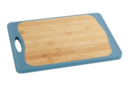 Wenko Kombi Double Sided Bamboo And Plastic Cutting Board 39.5 x 28 cm