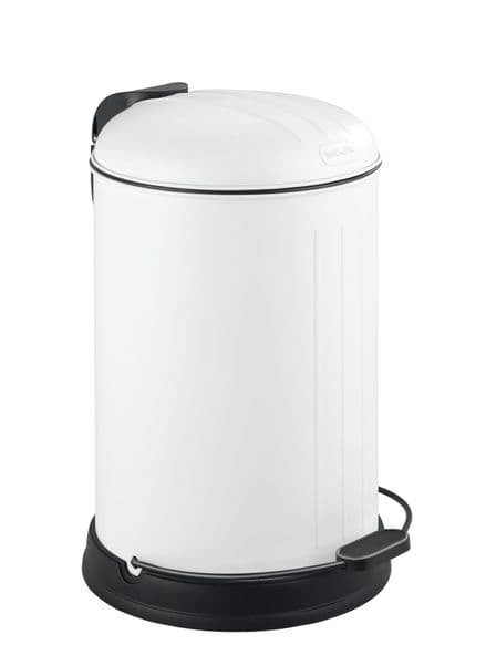 Wenko Lagun Matt White Kitchen/Bathroom Bin 12L