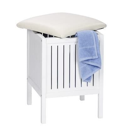 Wenko Oslo White Bath & Household Stool