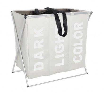 Wenko Trio Laundry Collector Beige