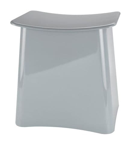 Wenko Wing Grey Laundry Bin & Bathroom Stool