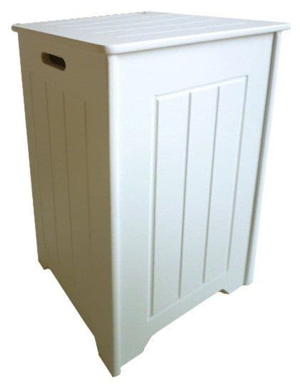 White Shaker Slim Laundry Box