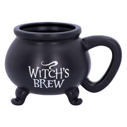 Witch's Brew Black Cauldron Mug