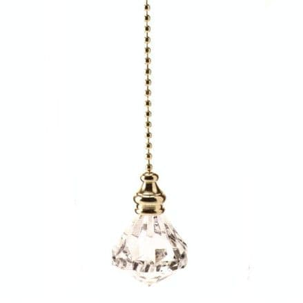 WML Polished Brass with Acrylic Diamond Light Pull
