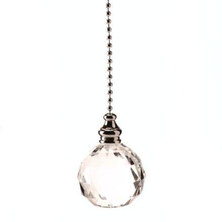 WML Polished Chrome with Acrylic Crystal Ball Light Pull