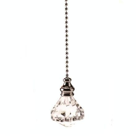 WML Polished Chrome with Acrylic Diamond Light Pull