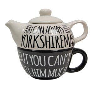 You can always tell a Yorkshire Man Mug & Teapot Set