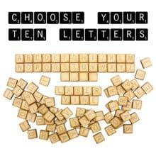 10 Personalised Laser Cut Wood Scrabble Tiles