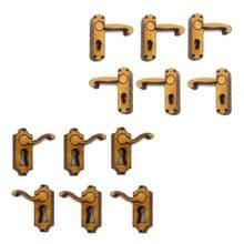 12 x Door Handles for Fairy Doors, Left and Right, Pixies, Elves 3mm MDF or Ply