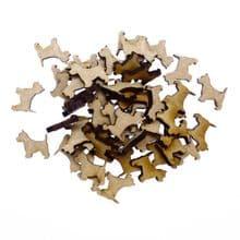15 x Wooden Laser Cut MDF shapes Craft Blank Embellishments - Westie Dog 40mm
