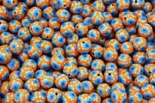 25 x 11-12mm Handmade Polymer Clay Fimo floral flower Beads – Felicia Orange