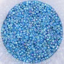 25g 2mm Glass Seed Beads – Sapphire AB (Aurora Borealis)