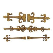 75mm Fairy Door Hinges - 3 designs, 12 pairs (24 hinges in total) MDF and Ply