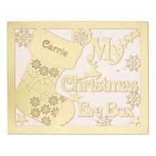 Christmas Eve Box MDF My Reindeer Sack Robin, Our Doves Bells CandyCane