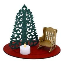 Christmas in Heaven Memorial Rocking Chair with LED Tea Light Candle