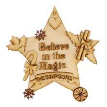 Christmas Magic Decorations, Personalised Family Name Set MDF Fun DIY Craft Kit