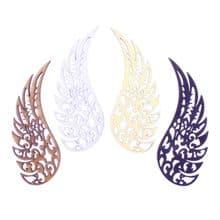 Decorative Angel Wings - each wing is 25mm wide, 3mm MDF Wooden Fancy Laser Cut