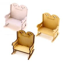 Double Heart Memorial Chair (chair only) MDF or Painted MDF can be Personalised