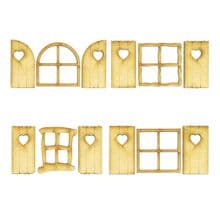Fairy Windows with Shutters Laser Cut from 3mm MDF go perfectly with Fairy Doors