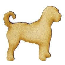 Labradoodle - 3mm MDF Laser Cut Craft Blank Scrapbook Topper Pyrography