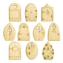 Large Fairy Doors - 10 Designs - Laser Cut - Wooden 3mm MDF Pixie Elf