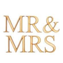 Mr & Mrs - Times New Roman - Laser Cut Wooden Craft Blank