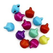 Pack of 12 9mm Jingle Bells Christmas card craft charm decoration multi coloured