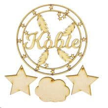 Personalised Name Dream Catcher - 20cm MDF Wood Dream Catcher Make Your Own