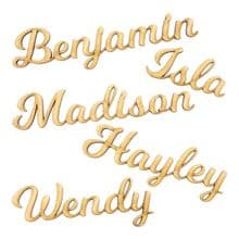 Personalised Wooden Wedding Place Names