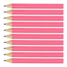 Pink Round Wooden Mini Half Golf Pencils