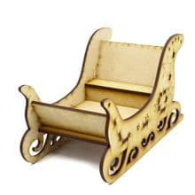 Santas Sleigh Wooden Christmas Decoration Sweet Holder - can be personalised