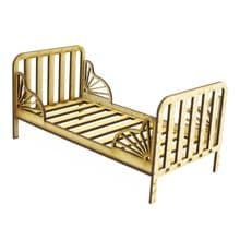 Slatted Bed - Enda - easy to assemble and decorate 3mm MDF Doll Teddy crib cot