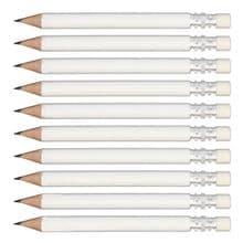 White Round Wooden Mini Golf Pencils with Eraser