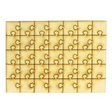 Wooden 35 Piece Puzzle 3mm MDF Blank Craft