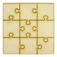 Wooden Altered Puzzle Pieces - Ideal for Box Frames
