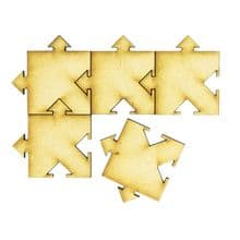 Wooden Interlocking Arrow Puzzle Pieces Craft ideal for Box Frames - 35 Pieces