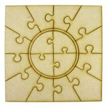 Wooden Puzzle Photo Frame (Circle) fits Ribba Frame
