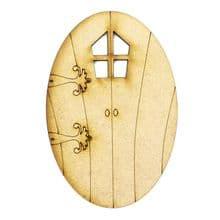 XL Fairy Door Design S 200x133cm - Wooden Laser Cut Shapes, Craft Blanks 3mm MDF