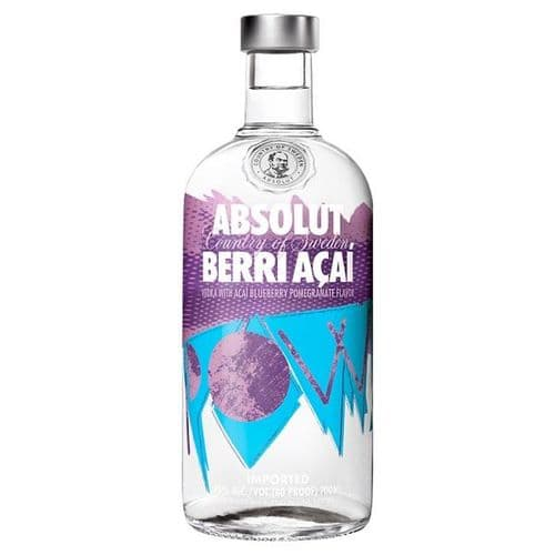 Absolut Berri Açaí Flavoured Vodka 70cl