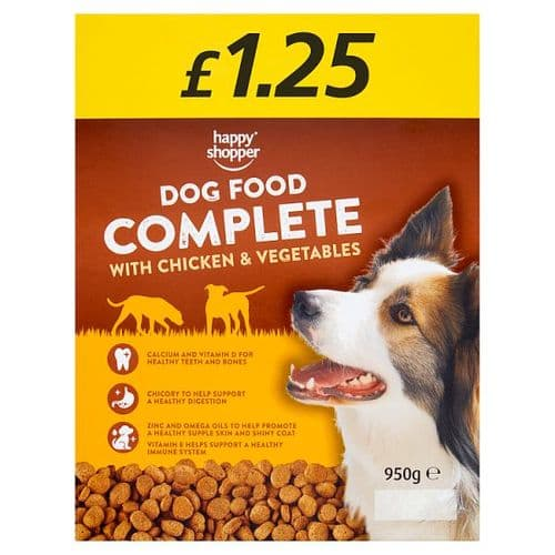 Happy Shopper Complete Dog Food with Chicken & Vegetables 950g
